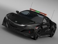 Honda NSX 2016 Safety Car 3D Model