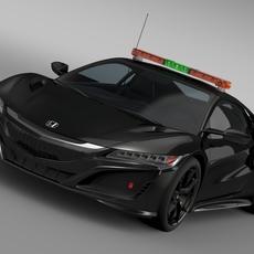 Honda NSX 2016 Safety Car 3D Model