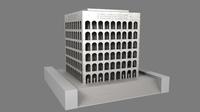 Palazzo della Civilta' Italiana - Square Colosseum - Colosseo Quadrato 3D Model