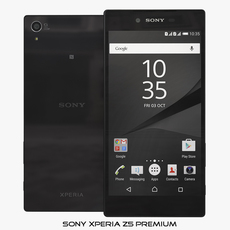 Sony Xperia Z5 Black 3D Model