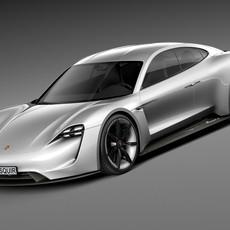 Porsche Mission E Concept 2015 3D Model