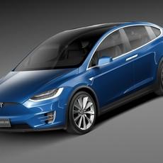 Tesla Model X 2017 3D Model