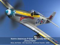 North American P-51K Mustang MK.IV - Dooleybird 3D Model
