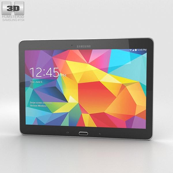 samsung galaxy tab 4 10 1 inch lte black 3d model. Black Bedroom Furniture Sets. Home Design Ideas