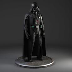 Star Wars Darth Vader Rigged for Maya 3D Model