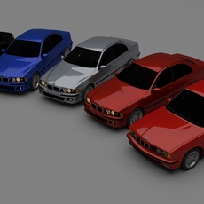 BMW 5 Series E34 E39 E69 3D Model