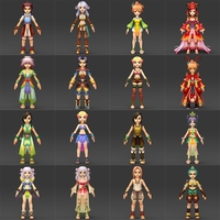 Quality Fantasy Character Collection 3D Model