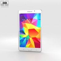 Samsung Galaxy Tab 4 7.0-inch White 3D Model