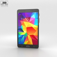 Samsung Galaxy Tab 4 7.0-inch Black 3D Model