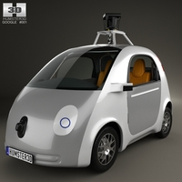 Google Self-Driving Car 2014 3D Model