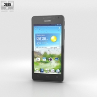 Huawei Ascend G600 Black 3D Model