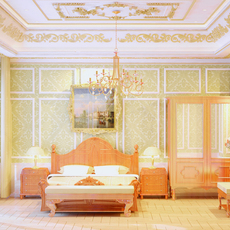 Classic bedroom - Chinese style 3D Model