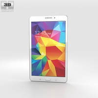 Samsung Galaxy Tab 4 8.0-inch White 3D Model