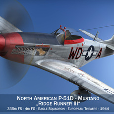 North American P-51D - Ridge Runner III 3D Model
