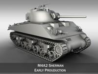 M4A2 Sherman - Medium Tank 3D Model
