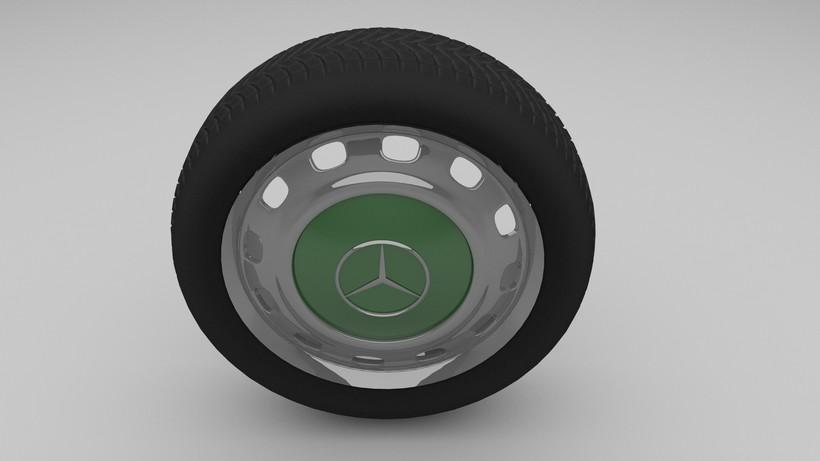 Mercedes W123 wheel 3D Model