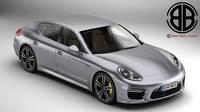 Porsche Panamera Turbo S 2014 3D Model