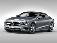 Mercedes Benz S Class Coupe (2015) 3D Model