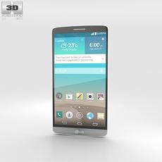 LG G3 Silk White 3D Model