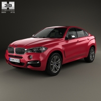 BMW X6 (F16) M sport package 2014 3D Model