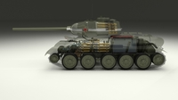 T-34/85 Interior/Engine Bay Full 3D Model