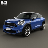 Mini Cooper Paceman S All4 2014 3D Model