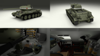 T-34/85 with Interior 3D Model