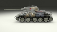 T-34/85 Interior/Engine Bay Full Winter Camo 3D Model