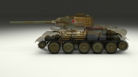 T-34/85 Interior/Engine Bay Full Camo 3D Model