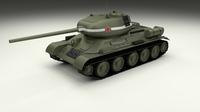T-34/85 Tank 3D Model