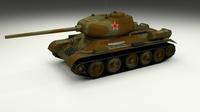 T-34/85 Tank Camo 3D Model