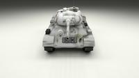 T-34/85 Tank Winter Camo 3D Model