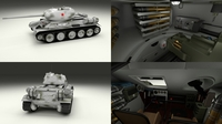 T-34-85 with Interior Winter Camo 3D Model