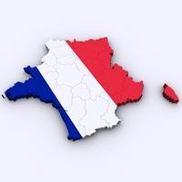 Map of France 3D Model