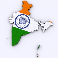 Map of India 3D Model