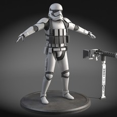 Star Wars First Order Stormtrooper Heavy 3D Model