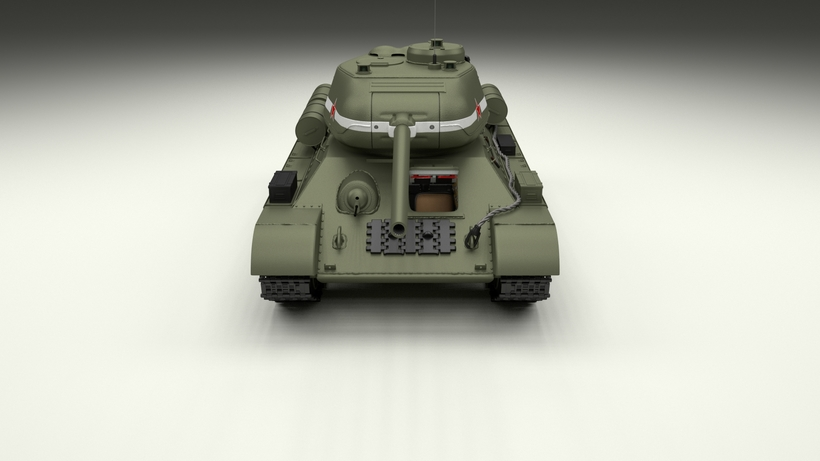 T-34-85 with Interior HDRI 3D Model