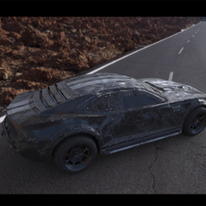 Post-apocalyptic battle-car 3D Model