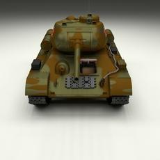 T-34-85 with Interior HDRI Camo 3D Model
