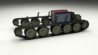 T34 Tank Drivetrain 3D Model
