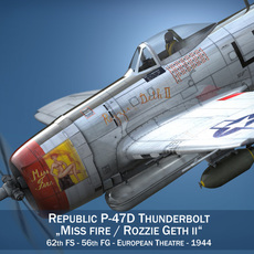 Republic P-47 Thunderbolt - Rozzie Geth II 3D Model