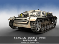 StuG III - Ausf.D - StuG Abt 192 - Winter Camo 3D Model