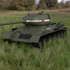 T-34/85 Tank HDRI 3D Model