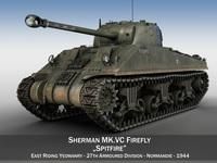 Sherman MK VC Firefly - Spitfire 3D Model