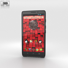 Motorola Droid Maxx Black 3D Model