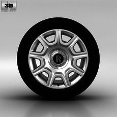 Rolls-Royce Ghost Wheel 19 inch 001 3D Model