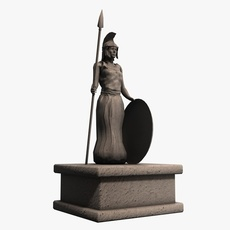 Athena greek stone statue 3D Model