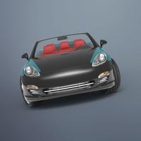 Convertible Porsche 3D Model