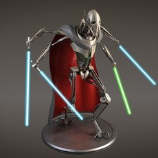 Star Wars General Grievous rigged for Maya 3D Model