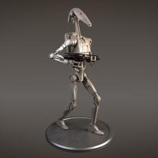 Star Wars Battle Droid rigged for Maya 3D Model
